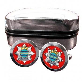 Cambridgeshire Fire and Rescue Round Cufflinks