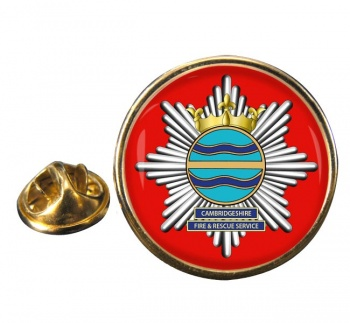 Cambridgeshire Fire and Rescue Round Pin Badge