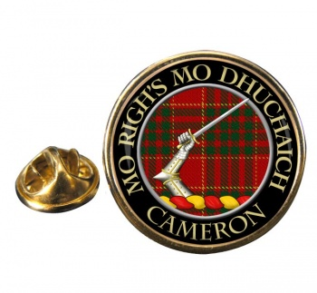 Cameron ancient Scottish Clan Round Pin Badge