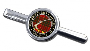 Cameron ancient Scottish Clan Round Tie Clip