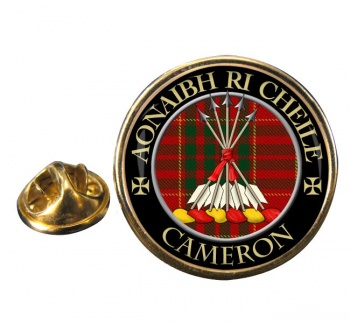 Cameron Scottish Clan Round Pin Badge