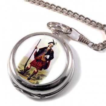 Cameron Clansman by MacIan Scottish Clan Pocket Watch