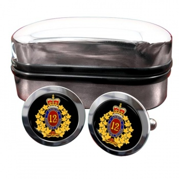 12e Re�giment blinde� du Canada (Canadian Army) Round Cufflinks