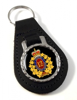 12e Re�giment blinde� du Canada (Canadian Army) Leather Key Fob