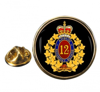 12e Re�giment blinde� du Canada (Canadian Army) Round Pin Badge