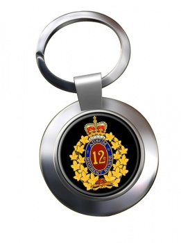 12e Re�giment blinde� du Canada (Canadian Army) Chrome Key Ring