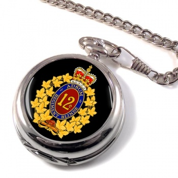 12e Re�giment blinde� du Canada (Canadian Army) Pocket Watch