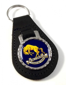 14th Canadian Hussars (Canadian Army) Leather Key Fob