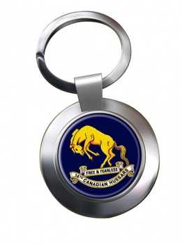 14th Canadian Hussars (Canadian Army) Chrome Key Ring
