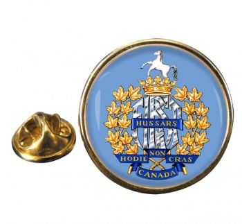 1st Hussars (Canadian Army) Round Pin Badge
