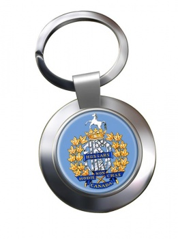 1st Hussars (Canadian Army) Chrome Key Ring