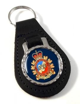 1 Service Battalion (Canadian Army) Leather Key Fob