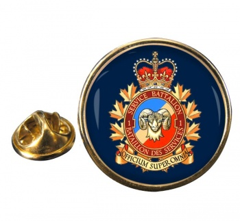 1 Service Battalion (Canadian Army) Round Pin Badge