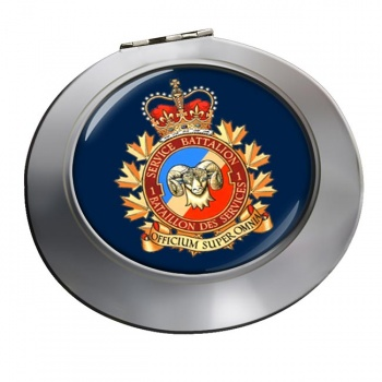 1 Service Battalion (Canadian Army) Chrome Mirror