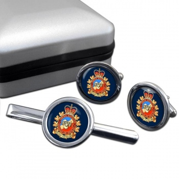 1 Service Battalion (Canadian Army) Round Cufflink and Tie Clip Set