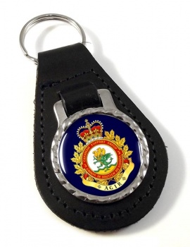 3 Canadian Support Group (Canadian Army) Leather Key Fob