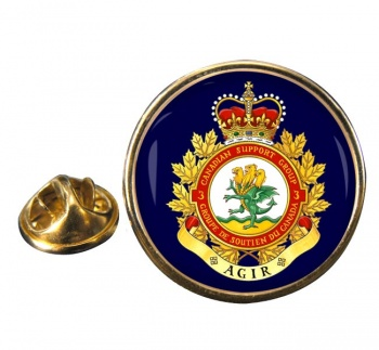 3 Canadian Support Group (Canadian Army) Round Pin Badge