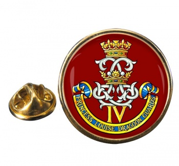 4th Princess Louise Dragoon Guards (Canadian Army) Round Pin Badge