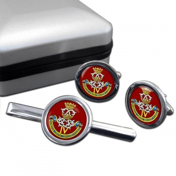 4th Princess Louise Dragoon Guards (Canadian Army) Round Cufflink and Tie Clip Set