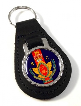 5th (British Columbia) Field Artillery Regiment (Canadian Army) Leather Key Fob