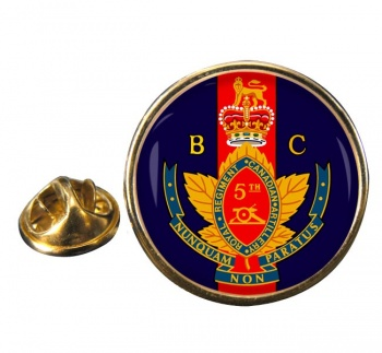 5th (British Columbia) Field Artillery Regiment (Canadian Army) Round Pin Badge