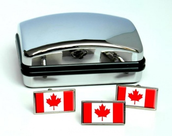 Canada Flag Cufflink and Tie Pin Set