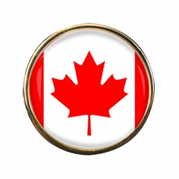 Canada Round Pin Badge
