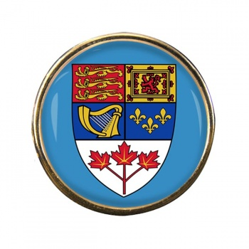 Canada Coat of Arms Round Pin Badge