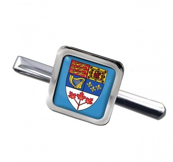 Canada Coat of Arms Square Tie Clip
