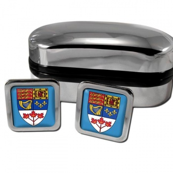 Canada Coat of Arms Square Cufflinks