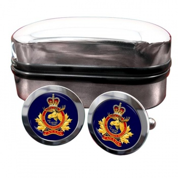 Algonquin Regiment (Canadian Army) Round Cufflinks