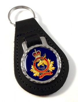 Algonquin Regiment (Canadian Army) Leather Key Fob
