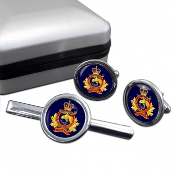 Algonquin Regiment (Canadian Army) Round Cufflink and Tie Clip Set