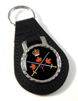 Canadian Army Leather Key Fob