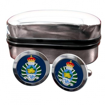 British Columbia Regiment (Duke of Connaught's Own) Canadian Army Round Cufflinks