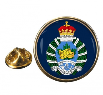 British Columbia Regiment (Duke of Connaught's Own) Canadian Army Round Pin Badge