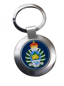 British Columbia Regiment (Duke of Connaught's Own) Canadian Army Chrome Key Ring