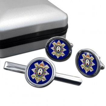 The Black Watch (Royal Highland Regiment) of Canada Round Cufflink and Tie Clip Set