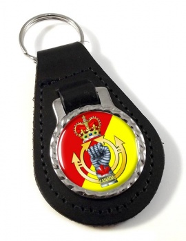 Royal Canadian Armoured Corps Leather Key Fob