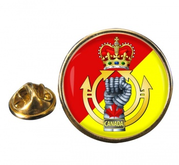 Royal Canadian Armoured Corps Round Pin Badge