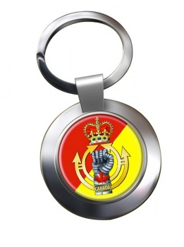 Royal Canadian Armoured Corps Chrome Key Ring