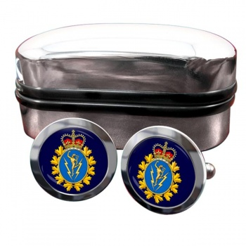 Communications and Electronics Branch (Canadian Army) Round Cufflinks