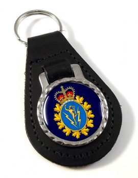 Communications and Electronics Branch (Canadian Army) Leather Key Fob