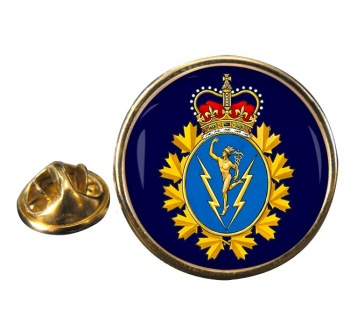 Communications and Electronics Branch (Canadian Army) Round Pin Badge