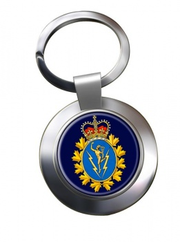 Communications and Electronics Branch (Canadian Army) Chrome Key Ring