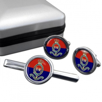 Royal Canadian Horse Artillery Round Cufflink and Tie Clip Set