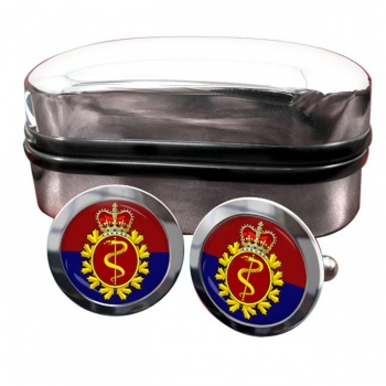 Royal Canadian Medical Service Round Cufflinks