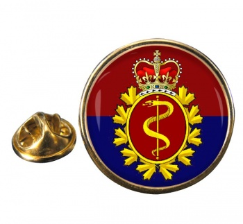 Royal Canadian Medical Service Round Pin Badge