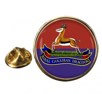 Royal Canadian Dragoons Round Pin Badge