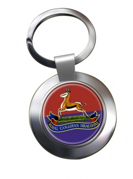 Royal Canadian Dragoons Chrome Key Ring